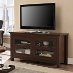 Walker Edison 44″ Coronado TV Stand Console, Brown