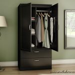 Organizer Dresser Huntington Armoire Wardrobe Closet Wood Cabinet Storage Bedroom Furniture Clothes