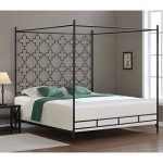 Metro Shop Quatrafoil King Canopy Bed
