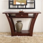 Metro Shop Furniture of America Magnolia Modern 1-Drawer Dark Walnut Sofa Table
