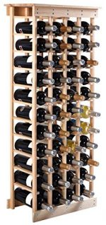 New 44 Bottles 11 Tier Cabinets Natural Pine Wood Wine Glass Rack Bottle Holder Stackable Shelves for Kitchen Home Bar Décor Display Storage