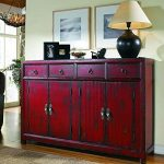 Hooker Furniture Seven Seas 58″ Red Asian Cabinet