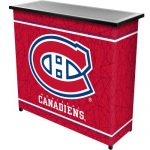 NHL Montreal Canadiens Two Shelf Portable Bar with Case
