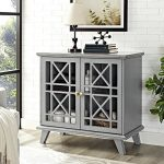 32″ Gwen Fretwork Accent Console , Gray