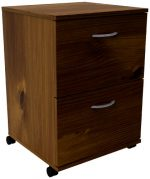 Essentials 2-Drawer Mobile Filing Cabinet 12093 from Nexera, Truffle