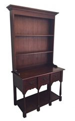 D-ART French Cottage Hutch Cabinet – in Mahogany Wood