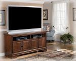 Signature Design by Ashley W527-38 Hamlyn Collection TV Stand, 60″, Dark Brown