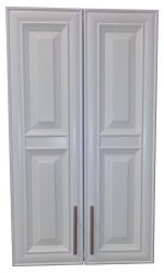 Wood Cabinets Direct TER-638-WH Terrell 2-Door on The Wall Frameless Medicine Cabinet, 3.5″ x 38″, White
