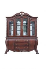 ACME 60270 Quinlan Hutch and Buffet China Cabinet, Cherry Finish