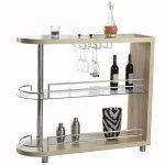 Homegear Deluxe Kitchen Bar Table – Oak