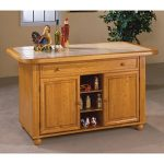 Sunset Trading Julian Kitchen Island with Sliding Ceramic Tile Top