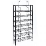 Topeakmart 8 Tier Black Metal Media Storage Rack Unit 432 DVD 228 CD 120 VHS Shelf