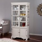 Southern Enterprises Paddington Curio Cabinet in Warm Gray