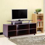 Gracelove Mobile TV Stand Entertainment Center Media Console Storage Cabinet Furniture
