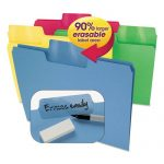 Smead – Erasable SuperTab File Folders, Letter, Assorted Colors, 24/Set 10480 (DMi ST
