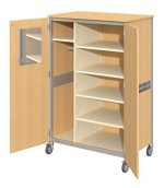 Fleetwood 98.5018.3HU.000-hnymple Shoreline Standard Teacher Cabinet with Locking Doors in Honey Maple Laminate