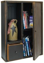Country Rustic Primitive Wood Prairie Cabinet