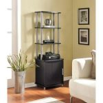 Altra Carson Media Storage Bookcase, Espresso