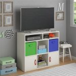 Adjustable Lucerne Media Storage By Altra White Stipple Your Child Space While Creating A Fun Spot For Playing Video Games Watching Movies And more Designed For Kids Rooms Storage Cable Box Interchangeable