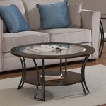 Metro Shop Carlisle Walnut/ Charcoal Grey Round Coffee Table