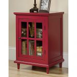 Sauder Barrister Lane Accent Curio Cabinet in Berry Red