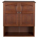 Pemberly Row 2-Door Wall Cabinet in Mahogany