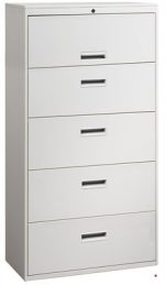 5 Drawer Steel Lateral File Cabinet, 30″W (Grey)