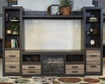 Signature Design by Ashley Harlinton Bridge Cabinet, Warm Gray
