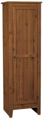 System Build Milford Single Door Storage Pantry Cabinet, Old Fashioned Pine