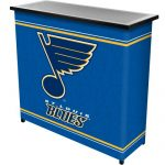 NHL St. Louis Blues Two Shelf Portable Bar with Case