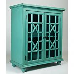 Jofran Brighton Park Accent Chest in Turquoise