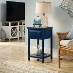 Sauder Cottage Road Side Table in Indigo Blue