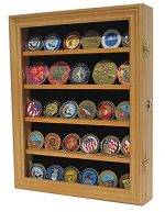 Lockable 30 Military Challenge Coin, Poker Chip, Sports Coin Display Case Cabinet, Glass door, Coin30-OA