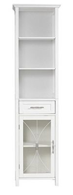 Veranda Bay Contemporary White Linen Tower With Storage