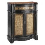 Accent Cabinet with in Black and Tan Crackle Finish