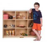 Kids' Station 36″ 9 Sect Preschool Cabinet, Fully Assembled
