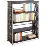 Safco Products Scoot 4-Shelf Bookcase, Black