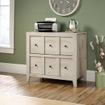 Sauder Dakota Pass 2 Drawer File Cabinet TV Stand in Chalked Chestnut