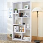 Furniture of America Verena Contoured Leveled Display Cabinet/ Bookcase – White
