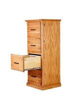 Forest Designs FD-1034C- TG-UO Traditional Four Drawer File, 22″ W x 56″ H x 21″ D, Unfinished Oak
