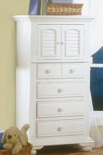 American Woodcrafters Cottage Traditions 4 Drawer Lingerie Chest – Eggshell White
