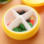 2Pcs Portable Mini 4 Slots Drug Medicine Pill Box Case Container Pillbox