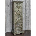 Ambella Home Collections 06690-820-001 Ant Blue Medallion Single Door Cabinet