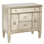 Bassett Mirror Borghese Mirrored Library Commode, Silver Leaf