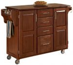 Home Styles 9100-1067G Create-a-Cart, Warm Oak Finish with Cherry Top