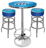 Miller Lite Ultimate Gameroom Combo – 2 Bar Stools & Pub Table