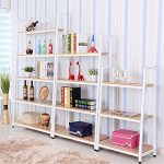 Magshion* Metal Home Decorate Bookcase 2 Colors Choose 3,4,5 Tier Shelf (White, 4 Shelf)